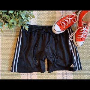 Adidas Mesh Stripe Running Athletic Workout Shorts